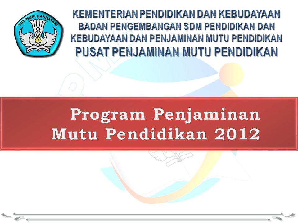 Program Penjaminan Mutu Pendidikan 2012