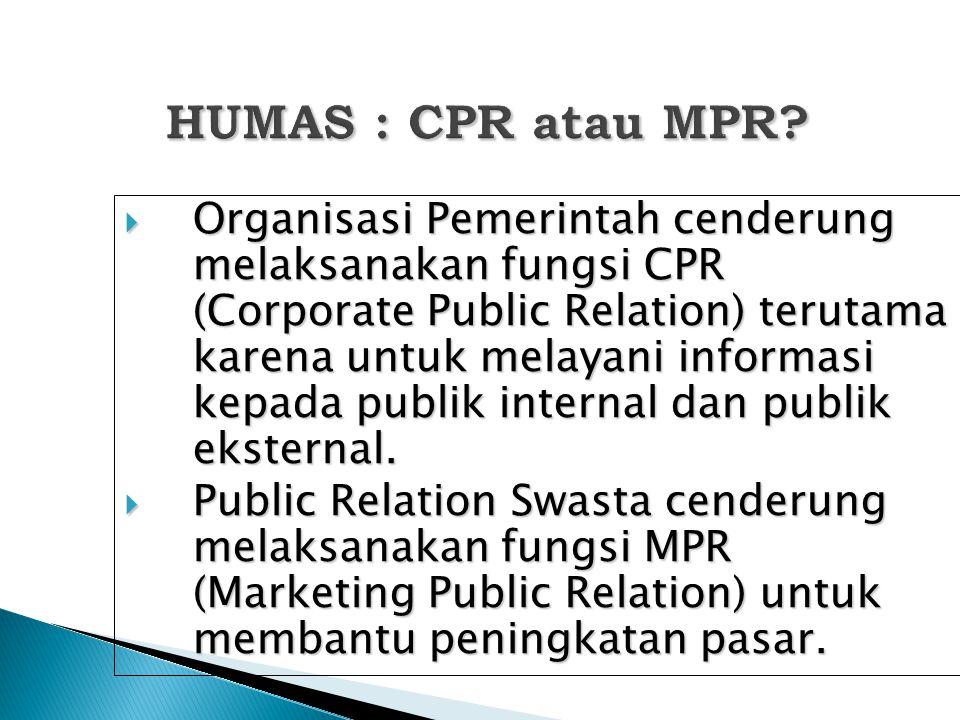 HUMAS : CPR atau MPR