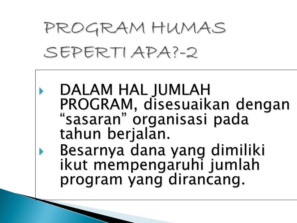 PROGRAM HUMAS SEPERTI APA -2