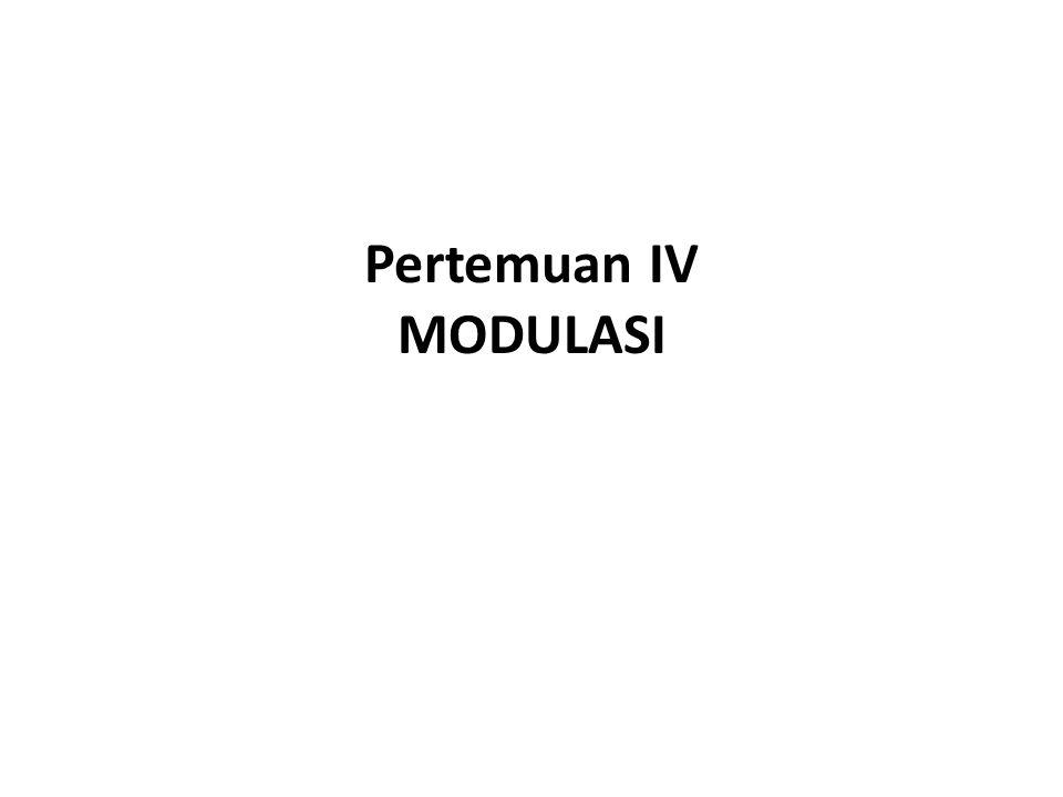 Pertemuan IV MODULASI