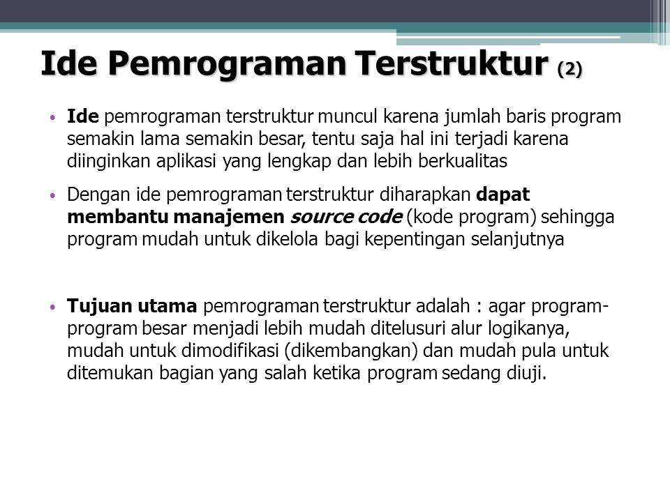 Ide Pemrograman Terstruktur (2)