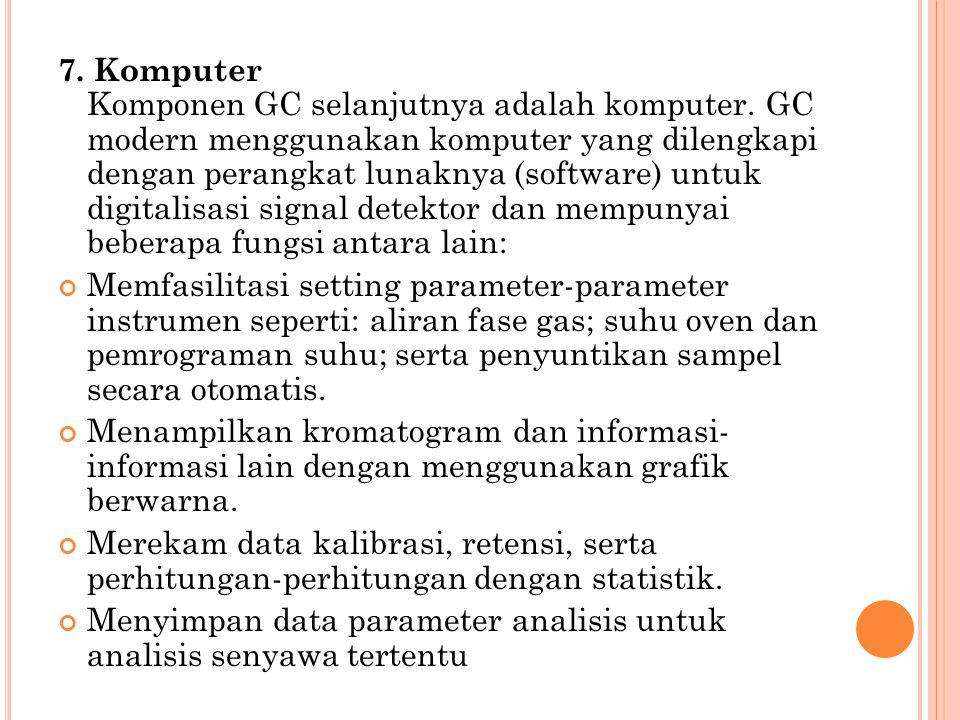 7. Komputer Komponen GC selanjutnya adalah komputer