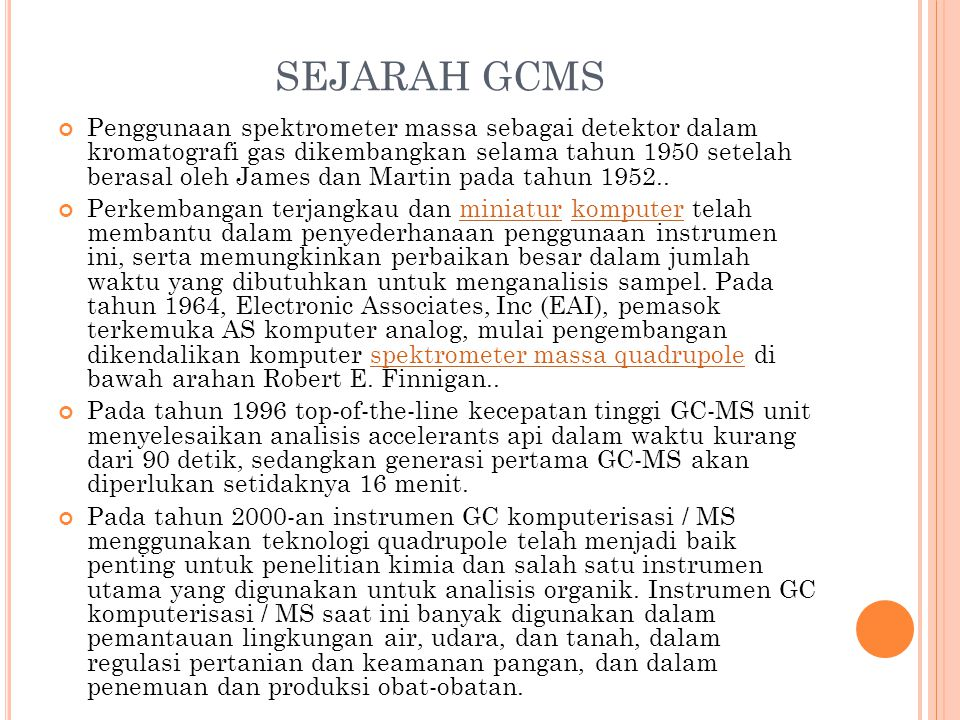 SEJARAH GCMS