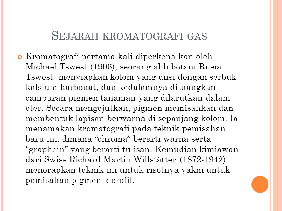 Sejarah kromatografi gas