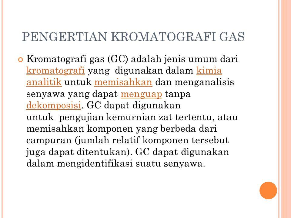PENGERTIAN KROMATOGRAFI GAS