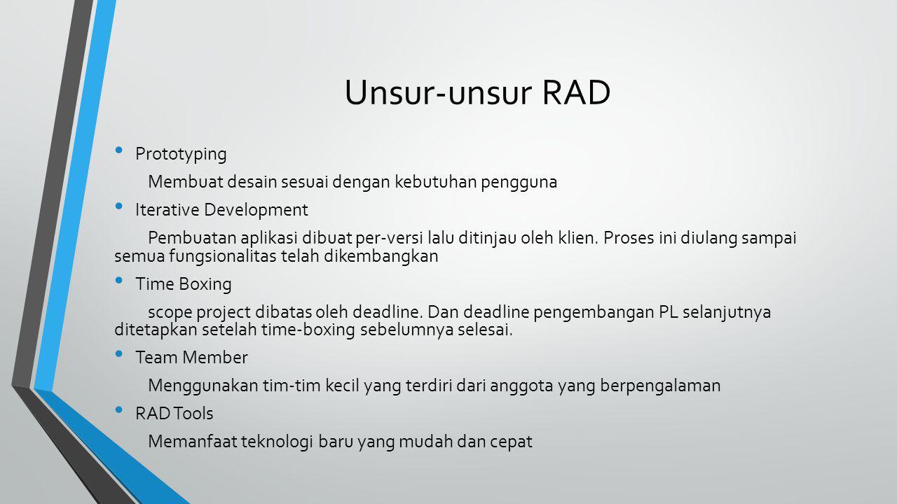 Unsur-unsur RAD Prototyping