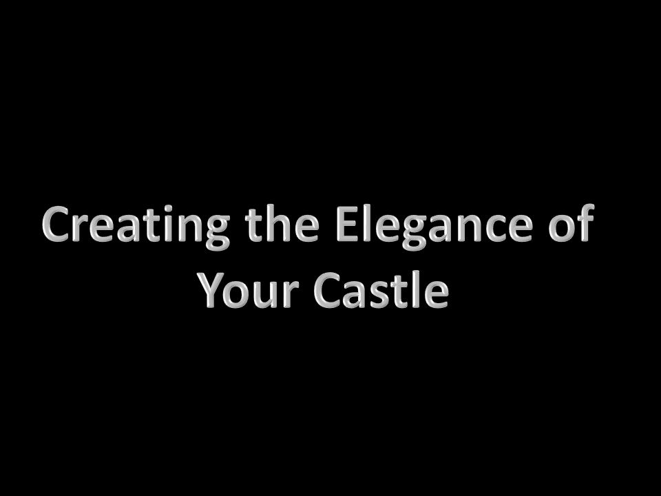 Creating the Elegance of