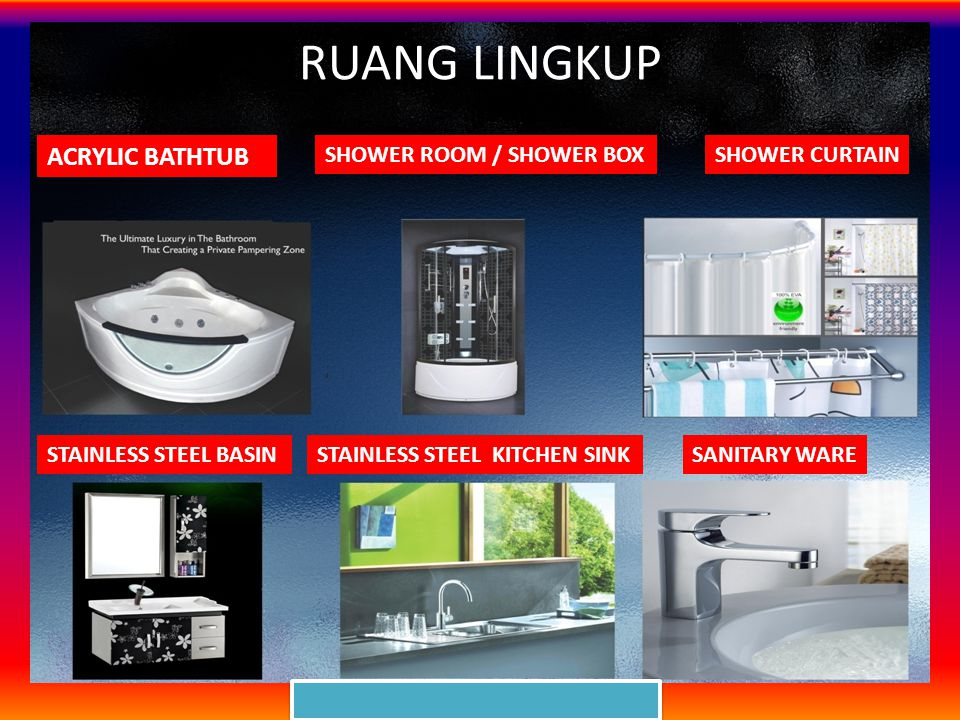 RUANG LINGKUP ACRYLIC BATHTUB SHOWER ROOM / SHOWER BOX SHOWER CURTAIN