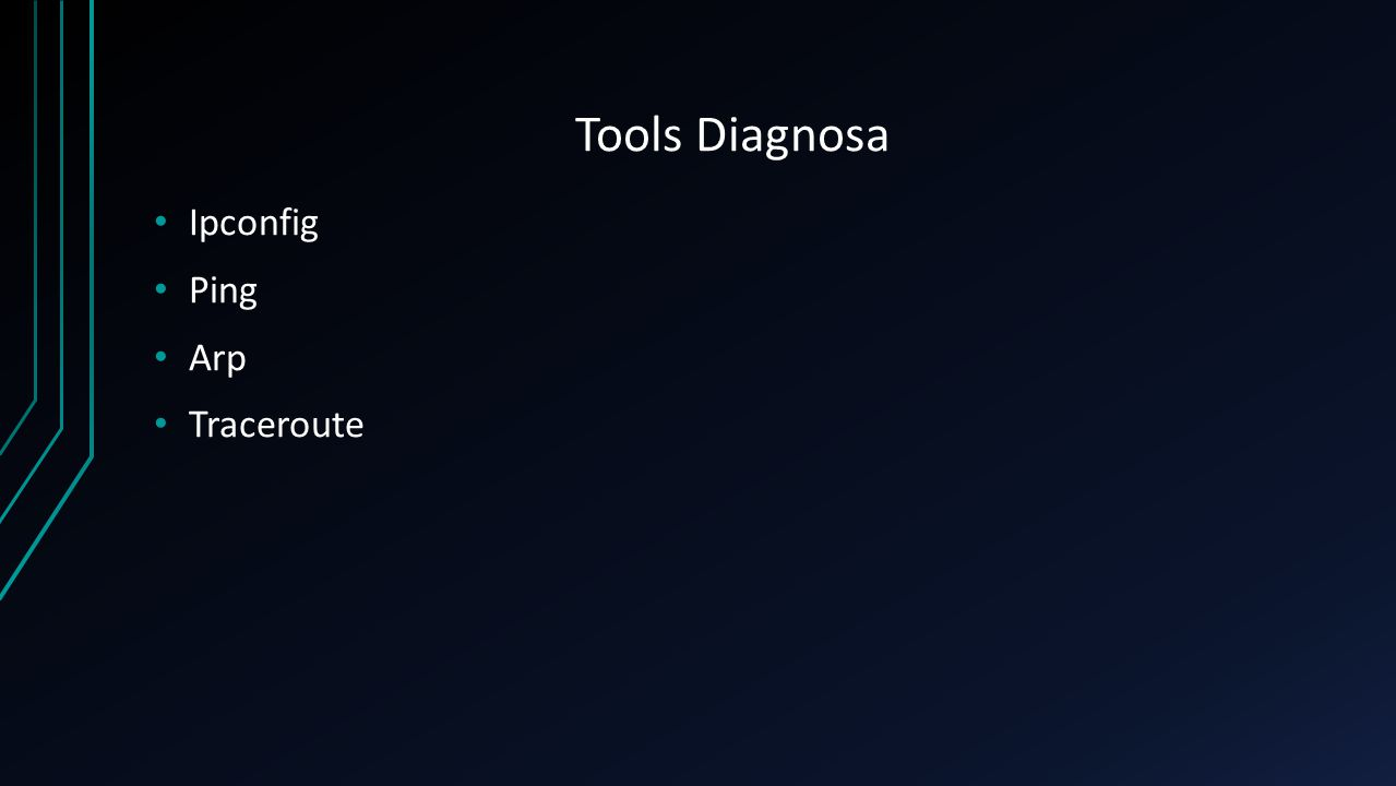Tools Diagnosa Ipconfig Ping Arp Traceroute