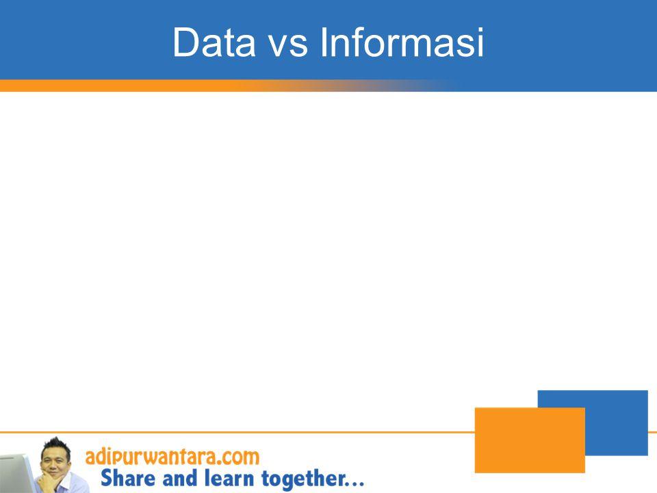Data vs Informasi http://adipurwantara.com