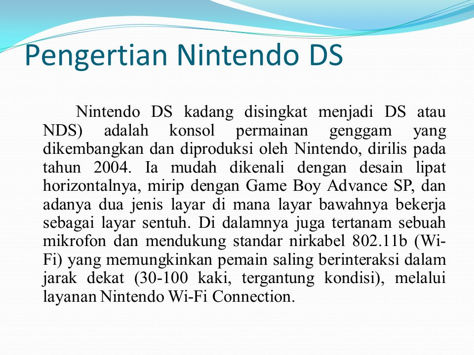 Pengertian Nintendo DS