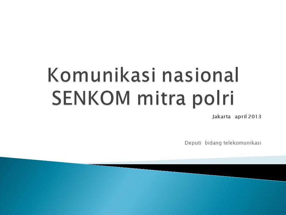 Komunikasi nasional SENKOM mitra polri