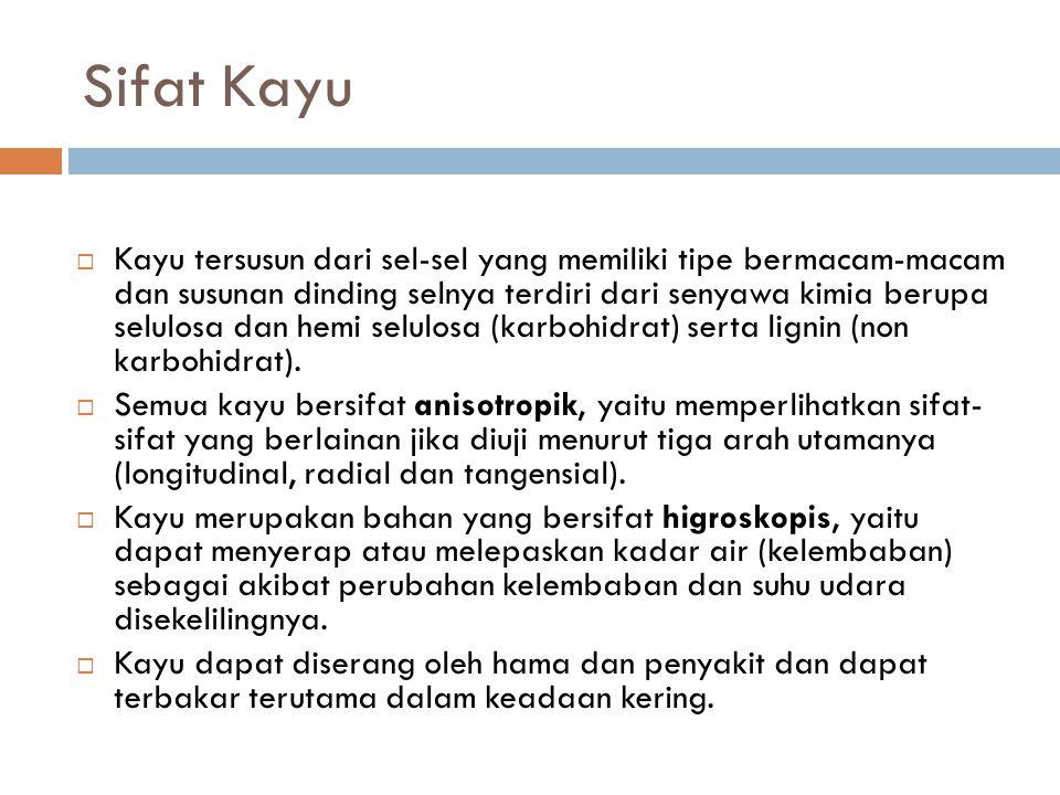 Sifat Kayu