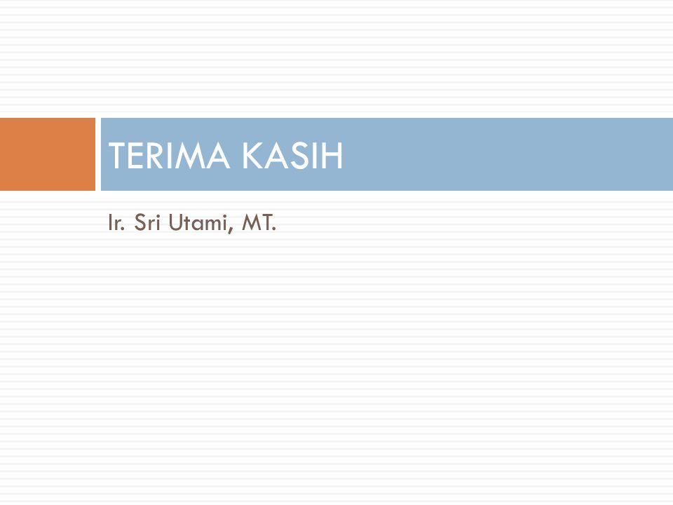 TERIMA KASIH Ir. Sri Utami, MT.