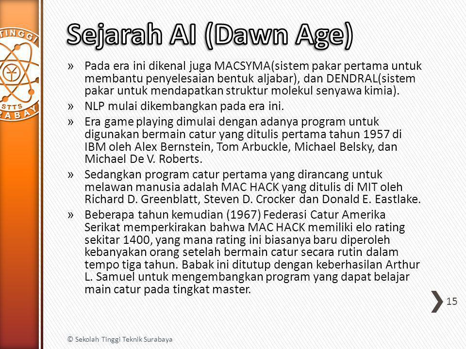 Sejarah AI (Dawn Age)