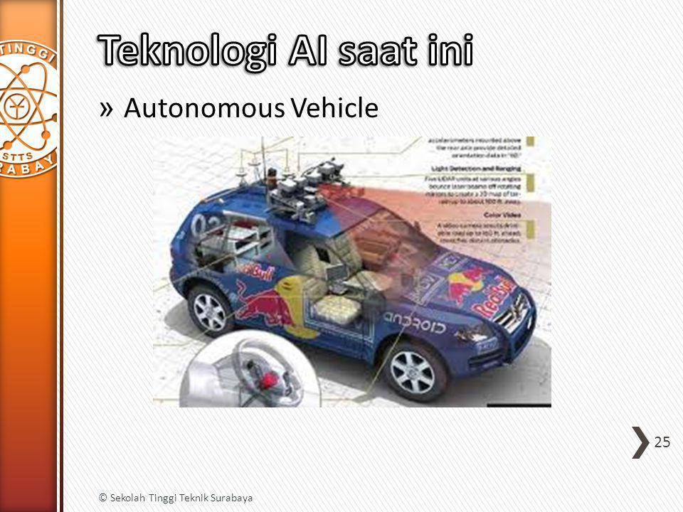 Teknologi AI saat ini Autonomous Vehicle