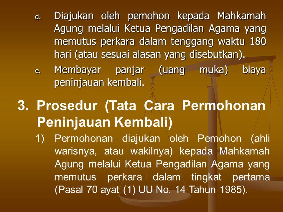 3. Prosedur (Tata Cara Permohonan Peninjauan Kembali)