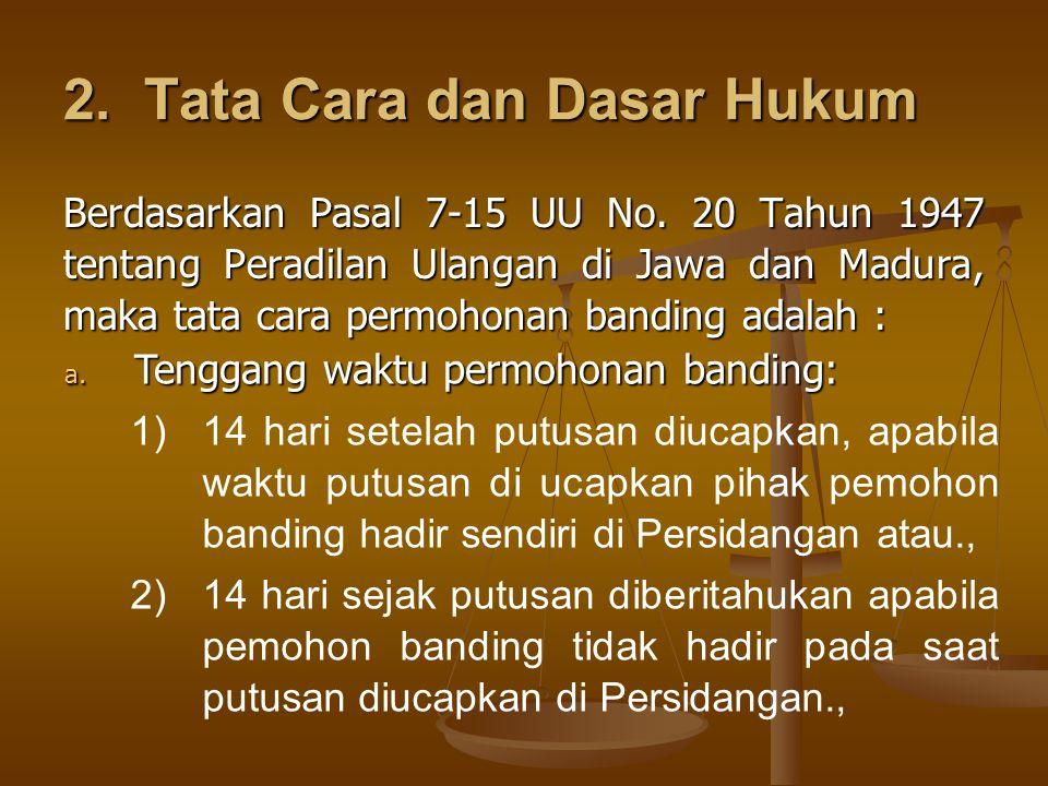 2. Tata Cara dan Dasar Hukum
