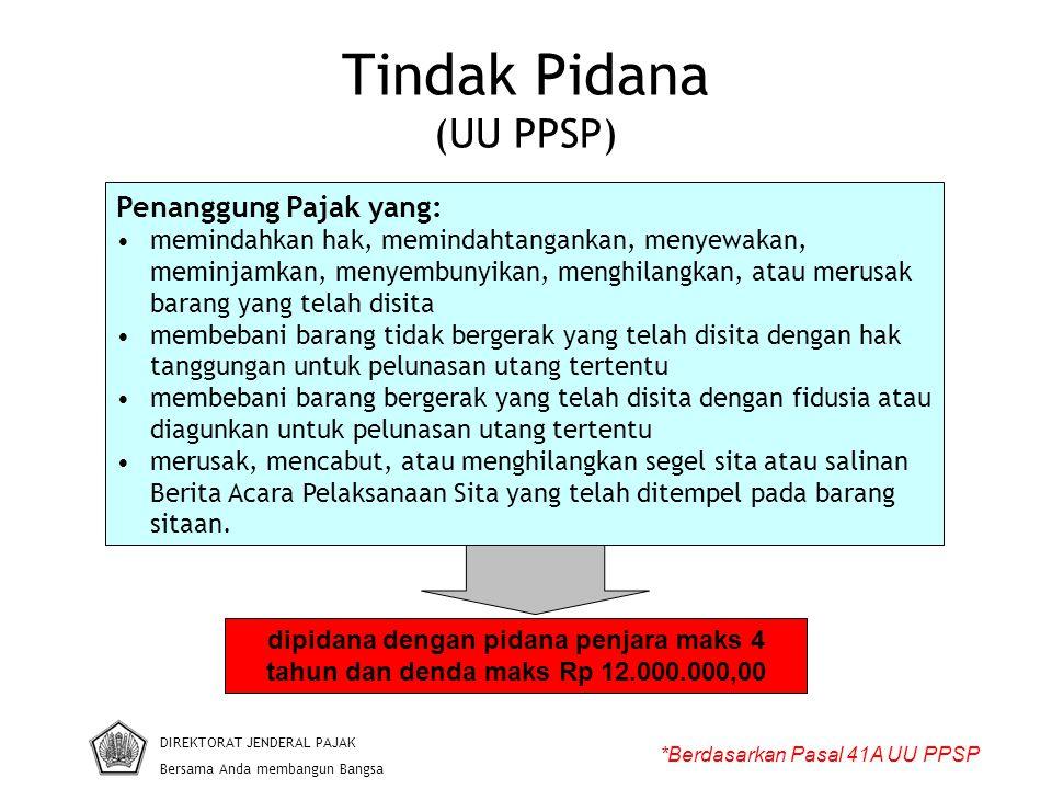 Tindak Pidana (UU PPSP)