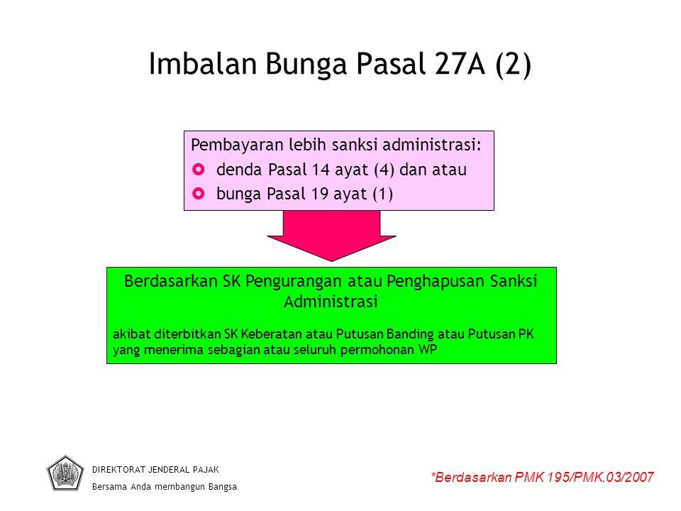 Imbalan Bunga Pasal 27A (2)
