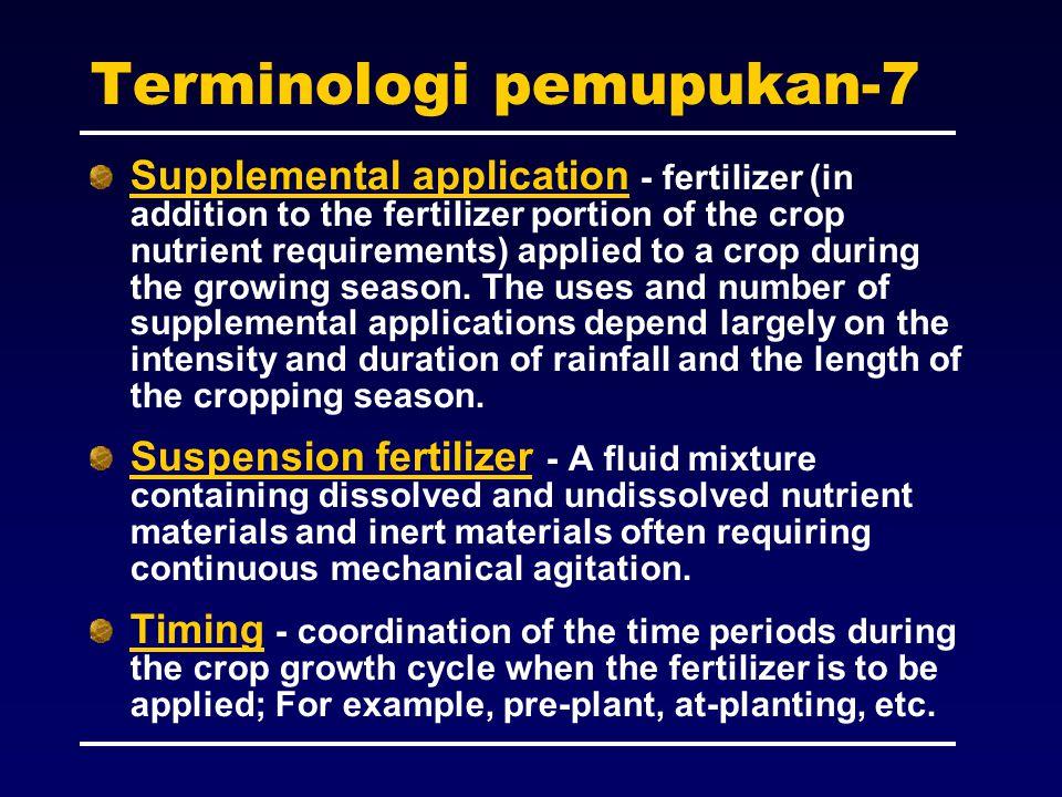 Terminologi pemupukan-7