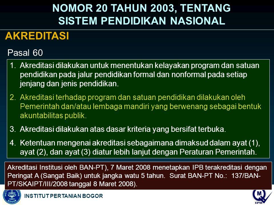 NOMOR 20 TAHUN 2003, TENTANG SISTEM PENDIDIKAN NASIONAL