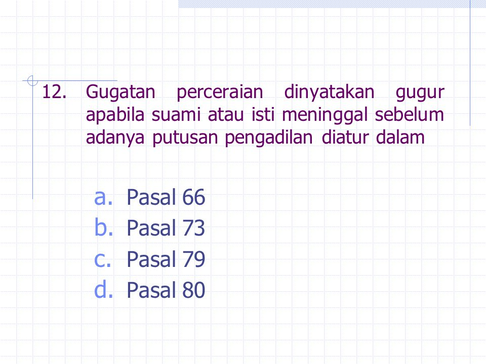 Pasal 66 Pasal 73 Pasal 79 Pasal 80