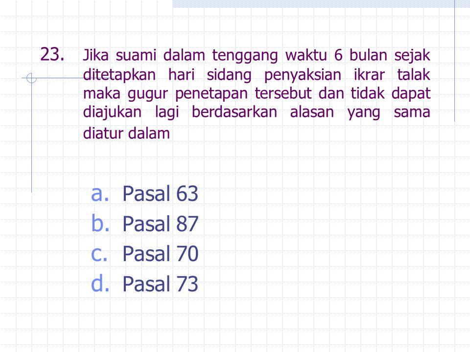 Pasal 63 Pasal 87 Pasal 70 Pasal 73