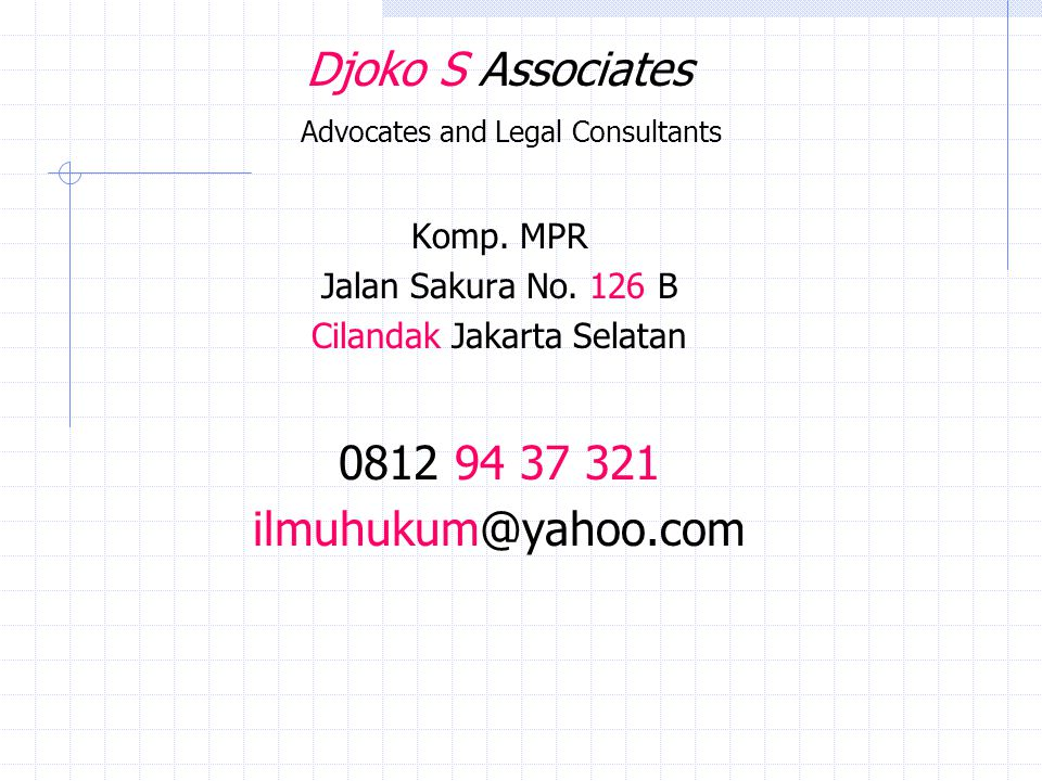 Djoko S Associates Advocates and Legal Consultants