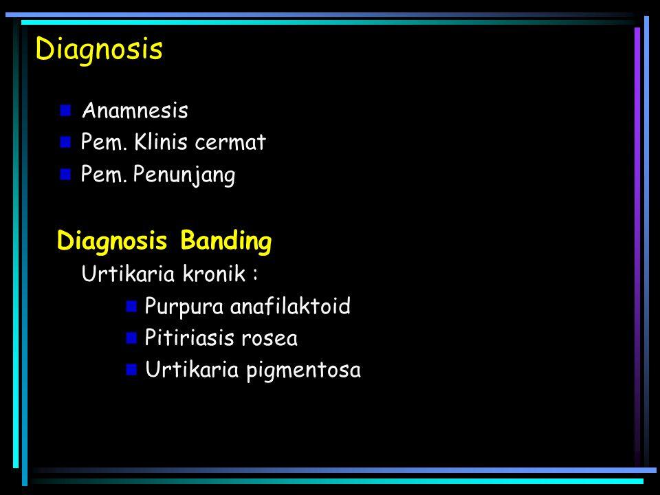 Diagnosis Diagnosis Banding Anamnesis Pem. Klinis cermat