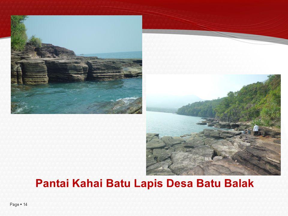 Pantai Kahai Batu Lapis Desa Batu Balak