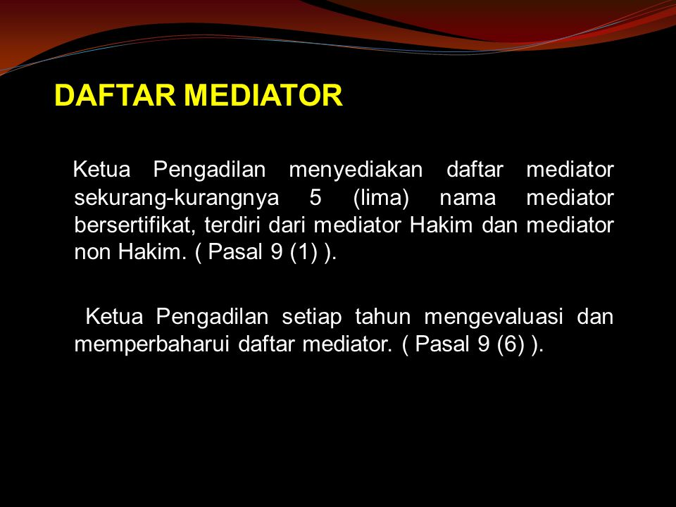 DAFTAR MEDIATOR