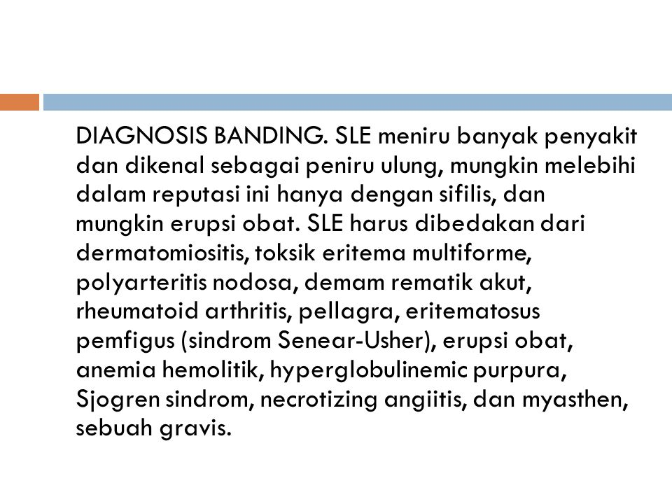 DIAGNOSIS BANDING.