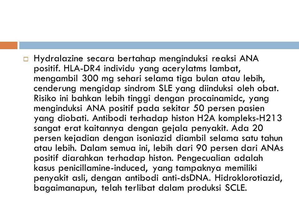 Hydralazine secara bertahap menginduksi reaksi ANA positif