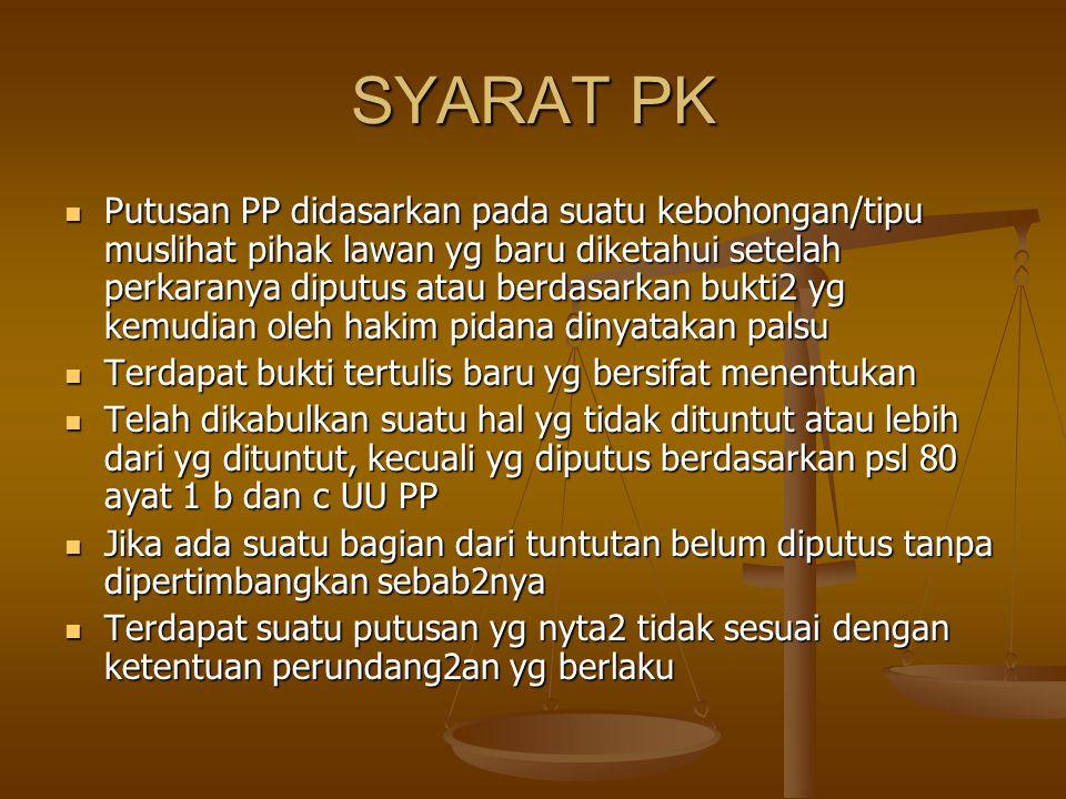 SYARAT PK