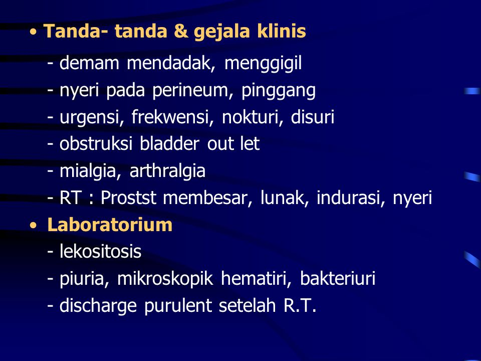 Tanda- tanda & gejala klinis