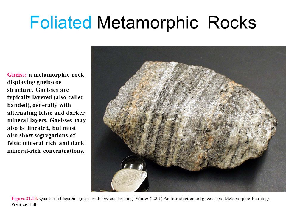 Foliated Metamorphic Rocks