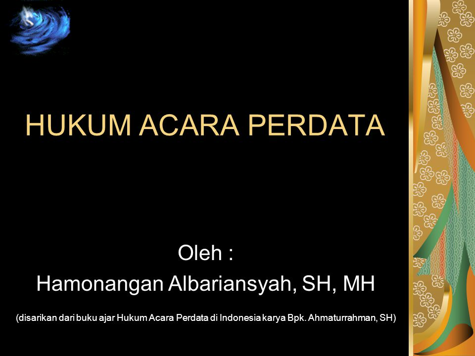 Hamonangan Albariansyah, SH, MH
