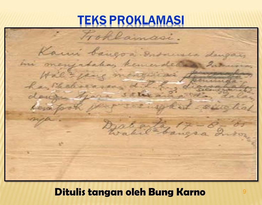 Ditulis tangan oleh Bung Karno