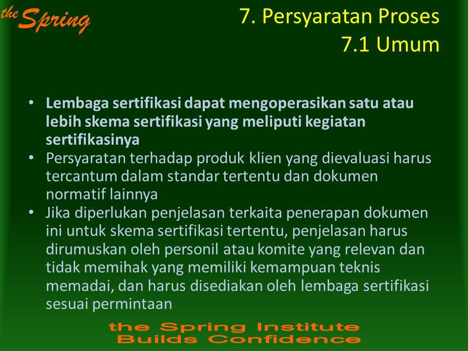 7. Persyaratan Proses 7.1 Umum
