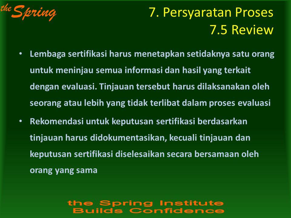 7. Persyaratan Proses 7.5 Review