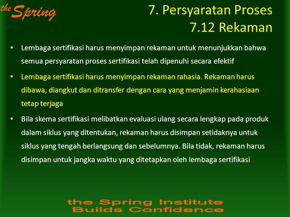 7. Persyaratan Proses 7.12 Rekaman
