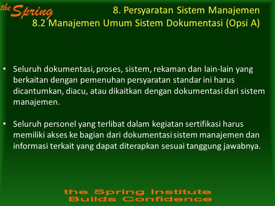 8. Persyaratan Sistem Manajemen 8