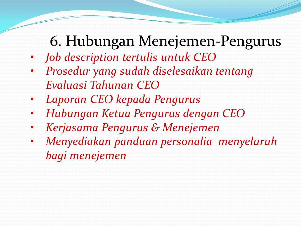 6. Hubungan Menejemen-Pengurus