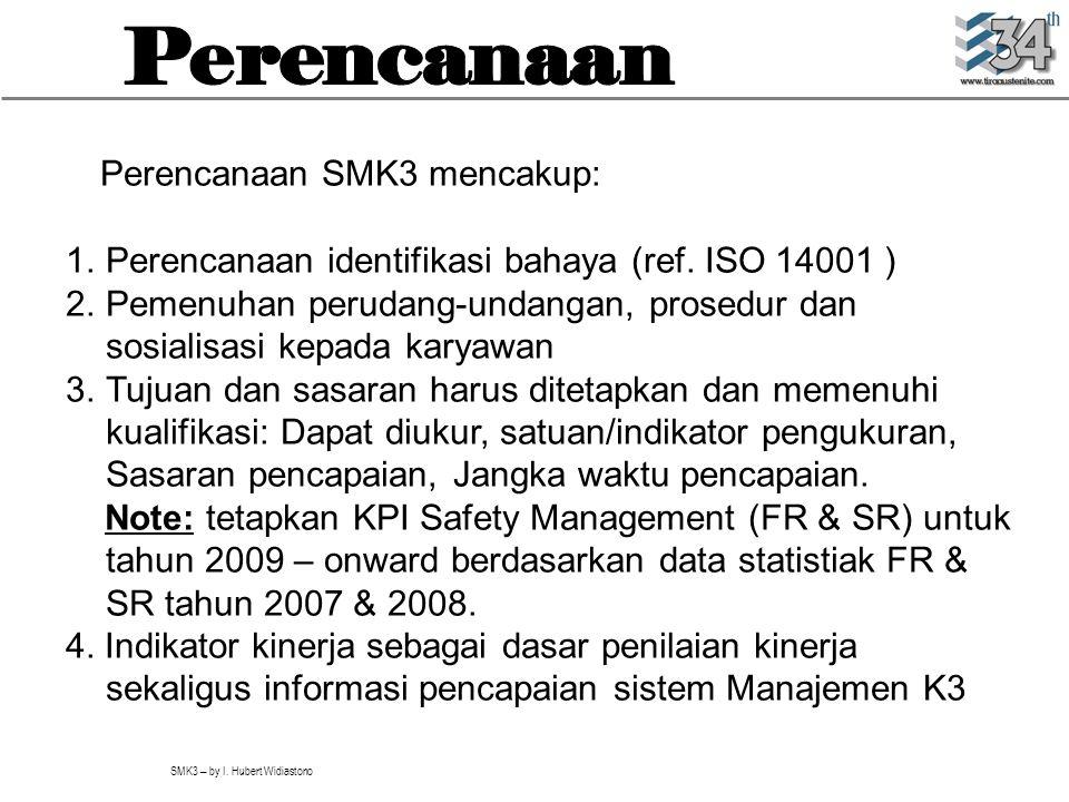 Perencanaan Perencanaan SMK3 mencakup:
