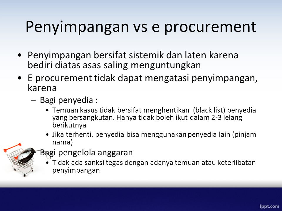 Penyimpangan vs e procurement