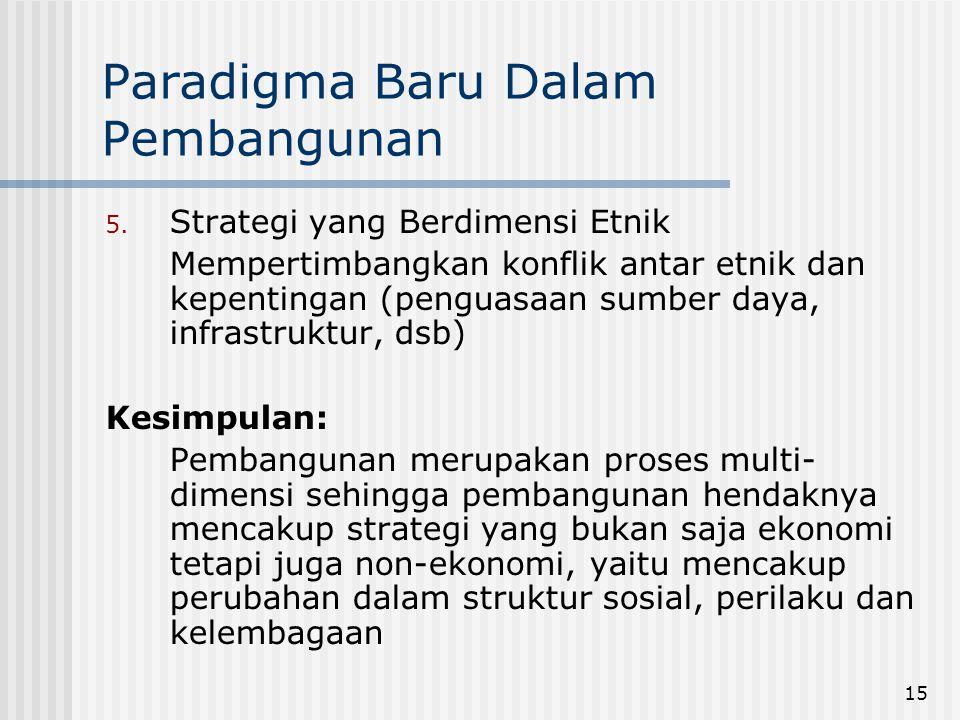 Paradigma Baru Dalam Pembangunan