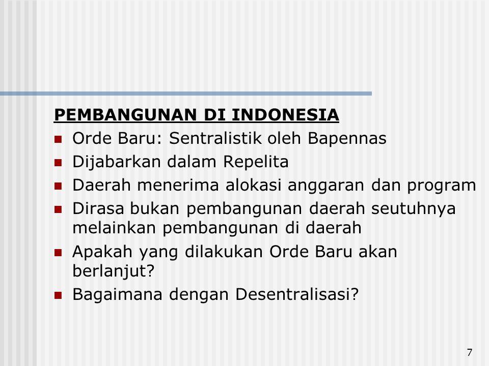 PEMBANGUNAN DI INDONESIA