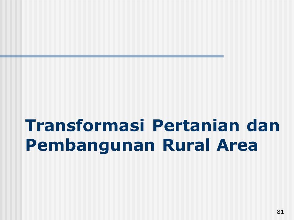 Transformasi Pertanian dan Pembangunan Rural Area