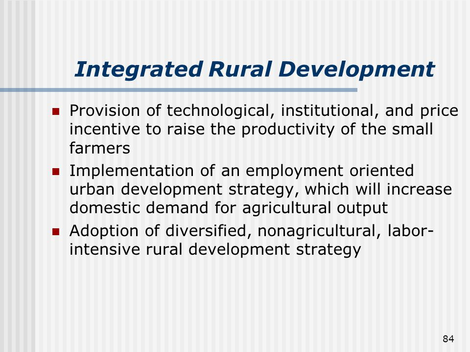 Integrated Rural Development